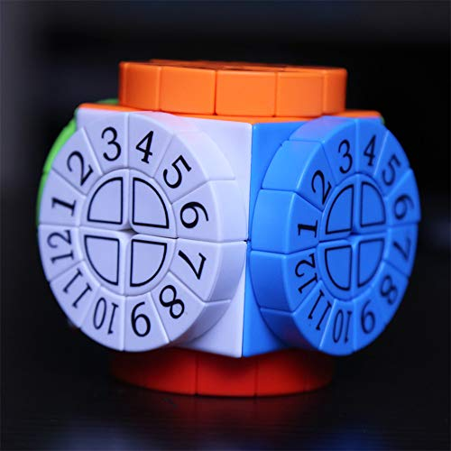 LEDM Speed Cube, Time Machine Magic Cube Kinderpuzzle Verbundstruktur geformter Würfel