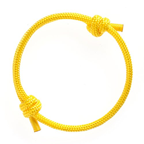 Wind Passion Nautical Braided Yellow Mono Rope Cord Men Bracelet