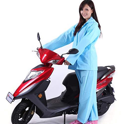 QNJM Poncho A Prueba De Agua, Motocicleta Eléctrica para Hombre Y para Mujer Sombrero Grande Impermeable, Gabardina para Motocicleta con Ranura para Espejo (Color : Azul, Tamaño : L)