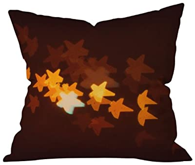 DENY Designs Happee Monkee Starry Starry Night Throw Pillow, 16 by 16 Inch