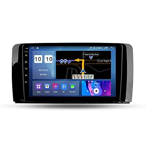 Android 10.0 Car Stereo Radio Doble DIN para Benz Clase R W251 R280 R300 R320 2005-2017 Navegación GPS Reproductor Multimedia de 9 '' Receptor de Video Bluetooth con 4G WiFi SWC DSP USB Carplay