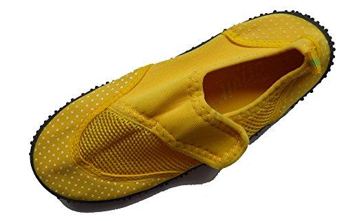 Aquaschuhe Badeschuhe Wasserschuhe Größe 30 Gelb Punkte