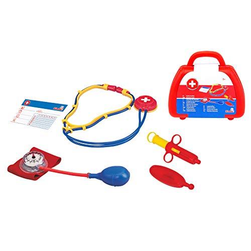 Doktorkoffer Kinder Arztkoffer mit Zubehör Spielzeug 3 Jahren mit Stethoskop Blutdruckmessgerät Spritze Arztspiel Rollenspiel Kinderarztkoffer Arzttasche Doktorspielzeug Fördert Fantasie Kreativität
