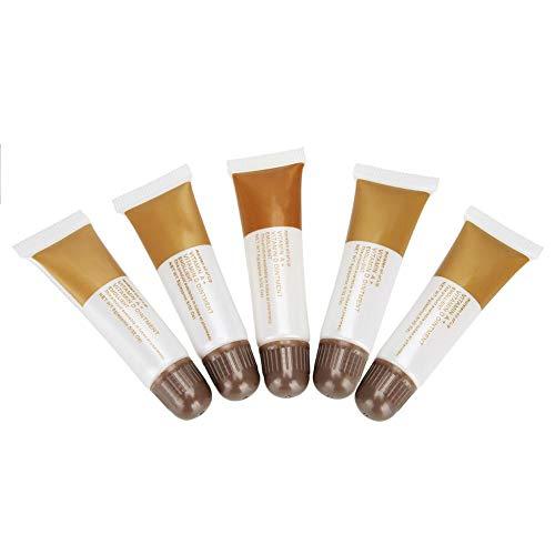 5pcs gel de réparation de soins infirmiers vitamine A & D anti-cicatrice crème de suivi pour les lèvres de sourcil soins infirmiers onguent maquillage gel de réparation(café)