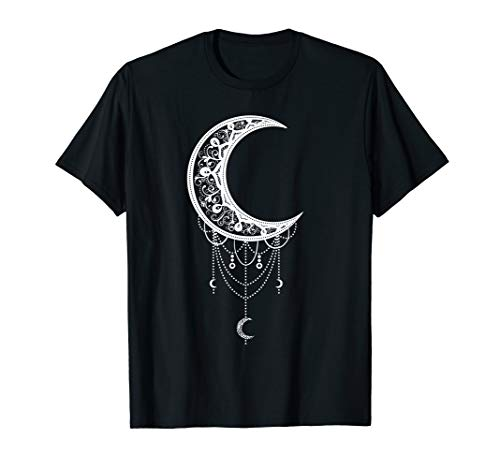 Occult Satan Moon Gothic - Mond, Hexe, Goth T-Shirt