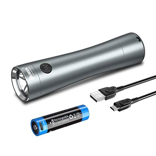 WUBEN C5 Mini linterna LED de bolsillo EDC Antorcha 700 lúmenes, IP65 a prueba de agua, luz de aluminio, batería recargable 14500, cola magnética, para caminar al aire libre