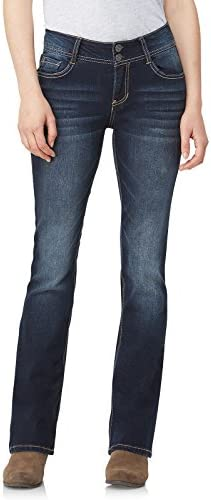 WallFlower Women s InstaStretch Luscious Curvy Bootcut Jeans Betsy Pure 15 product image