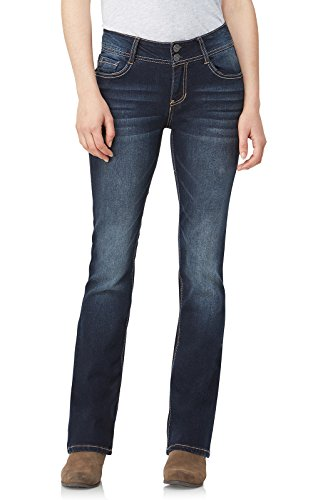 WallFlower Women's InstaStretch Luscious Curvy Bootcut Jeans, Betsy Pure, 3