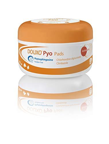 Douxo Pyo, toallitas antibacterianas y antifúngicas recomendadas por veterinarios para la piel de perro/gato (30 almohadillas)