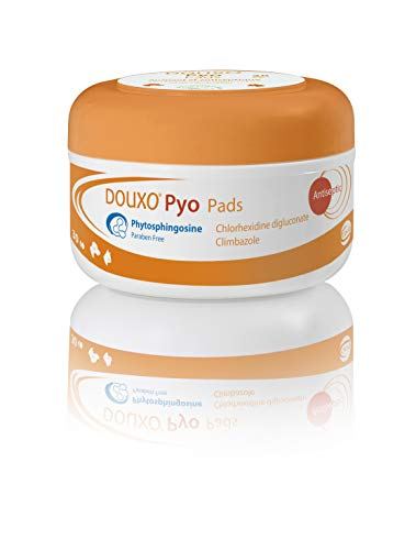 Douxo Pyo Lot de 30 lingettes antibactériennes et antifongiques recommandées par les vétérinaires