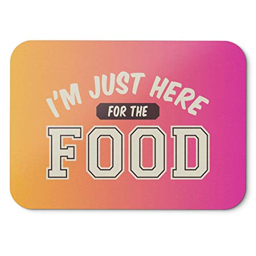 BLAK TEE I Am Just Here For the Food Mouse Pad 18 x 22 cm in 3 Colours Pink Giallo