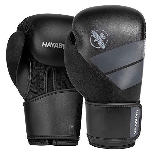 Hayabusa S4 Boxing Gloves for Men and Women - Black, 10...
