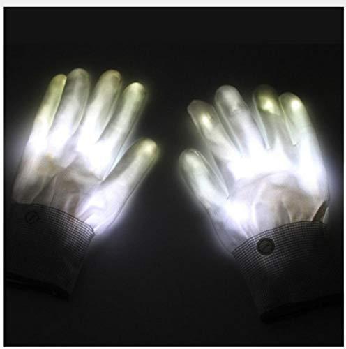 Leeslamp leeslamp leeslamp leeslamp 1 paar LED handschoenen oplichtend knipperlicht handschoenen skelet skelet Halloween kostuum evenementen party