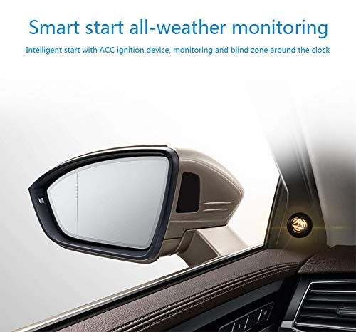 HYwot Sistema de detección de Radar de Espejo de Punto Ciego del automóvil BSD BSA BSM Asistente de monitoreo de Punto Ciego de microondas Asistente Seguridad de conducción,Negro