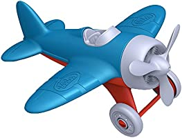 Green Toys Airplane - BPA, Phthalates Free, Blue Air Transport Toy for Introducing Aeronautical Knowledge, Improving...