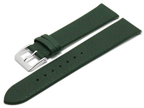 Meyhofer EASY-CLICK Uhrenarmband XS Weser 20mm dunkelgrün Leder glatt ohne Naht My2gfml4001