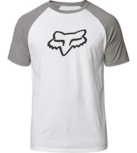 Fox T-Shirt Blocked Weiß Gr. XL