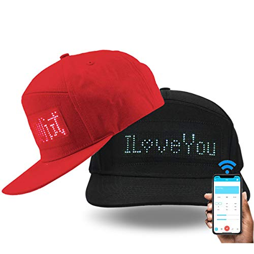 shunpad Hats for Men Baseball Halloween Birthday New Year's Christmas Party Supplies Hat Black … (Red)