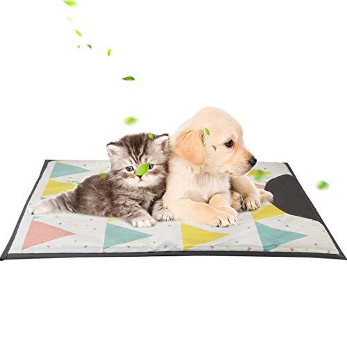 Petyoung Pet Cooling Mat- Zelf Koeling Mat Pad voor Kennels, Kratten en Bedden, Hond Zomer Koeling Pad Katten Kennel Koeling Slaap Kussen voor Thuis Reizen (23 * 17inch) 70 * 53
