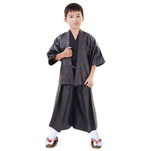 Cosplaymania Japan Jungen Samurai Kendo Gi + Hakama + Haori Set 3-TLG Kinder Kostüm Kimono Faschingskostüm