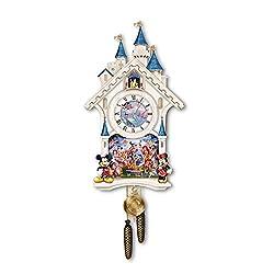 The Bradford Exchange Disney Character Cuckoo Clock: Happiest of Times