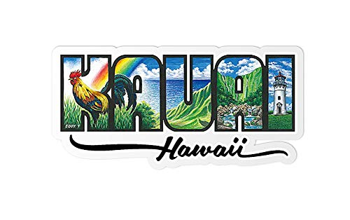 Welcome to the Islands Decal Sticker Kauai Hawaii by Eddy Y