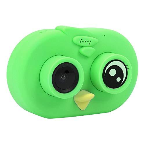 Digitale videocamera voor kinderen, Wifi Bird Toy-camcorder met digitale fotolijst, kleurrijk scherm van 2 inch, microfoon, nekband, continu-opnamen, bewegingsdetectie, lusopname (groen)