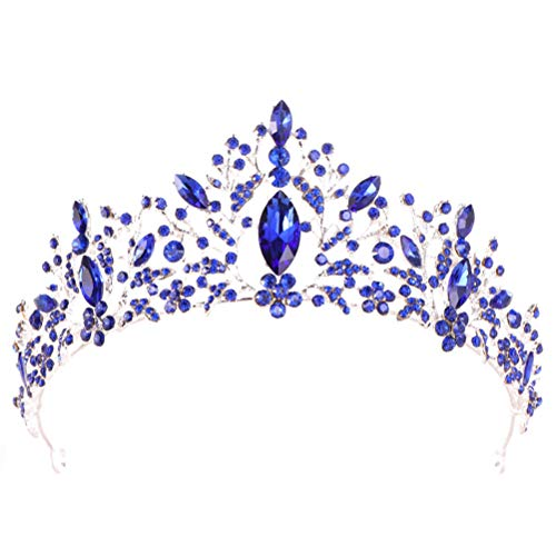 Corona barroca encantadora diadema de aleación de diamantes de imitación princesa Tiara...