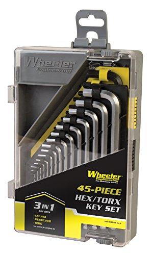 Wheeler Engineering 45-Piece SAE/Metric Hex and Torx Key Set for Gunsmithing Firearm Maintenance