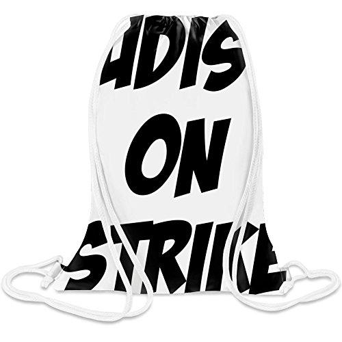 Nudist auf Streik - Nudist On Strike Custom Printed Drawstring Sack 5 l 100% Soft Polyester A Stylish Bag For Everyday Activities
