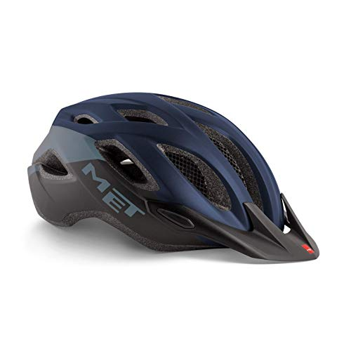 MET Crossover Fahrradhelm, Blue Black, XL