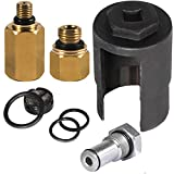 EnRand Ford IPR Valve Removal Socket Wrench Pulley Tool with Seal Kit, High Pressure Oil Pump IPR Valve Air Test Fitting Tool and Ford Fuel Rail Adapter for Ford 6.0L