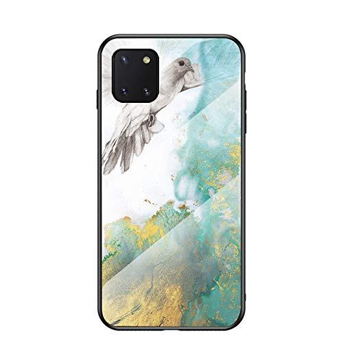 BaiFu Funda para Samsung Galaxy Note 10 Lite Marmol Case Tapa Trasera de Cristal Templado con TPU Edge Carcasa para Samsung Galaxy Note 10 Lite (Amarillo)