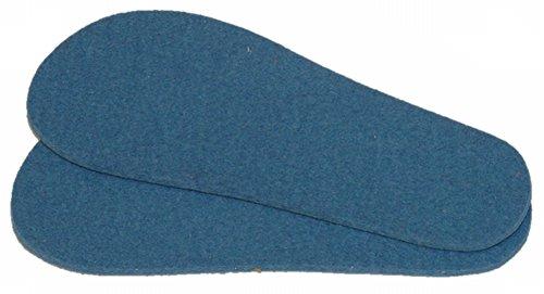Mopu's® Krabbelschuhe - Einlegesohle aus Schurwollfilz in blau Stärke ca. 3,5mm