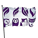 AGnight Bandera del jardín Custom Garden Flag Owl Logo Set Personalized Garden Flag Holiday Decor for Hanging Indoor Outdoor 3 X 5 Ft