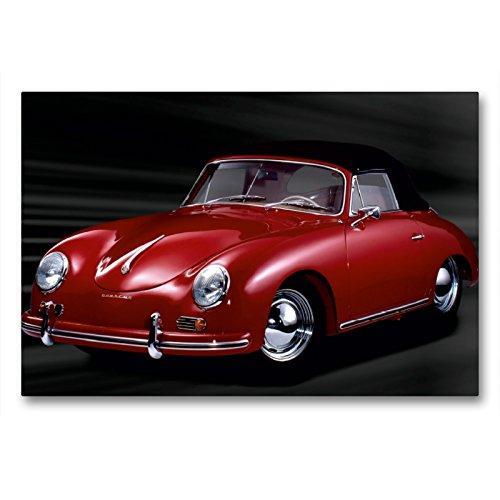 Premium Textil-Leinwand 90 x 60 cm Quer-Format Porsche 356 A - Bj. 1959 | Wandbild, HD-Bild auf Keilrahmen, Fertigbild auf hochwertigem Vlies, Leinwanddruck von Wolf Kloss
