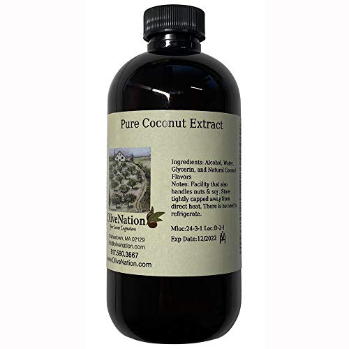 Pure Coconut Extract 4 oz, 4 Ounce
