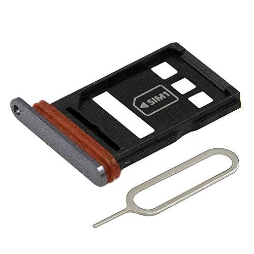 MMOBIEL Dual SIM Karte Tray Schlitten Kompatibel mit Huawei P40 2020 6.1 inch (Schwarz) inkl SIM pin