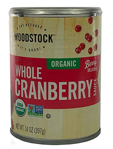 Woodstock Cranberry Sauce, Whole, Organic, 14 Oz. (Pack of 2)