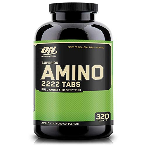 Optimum Nutrition ON Superior Amino 2222, Essential Amino Acids Tablets, EAA, BCAA, Unflavoured, 160 Servings, 320 Tablets