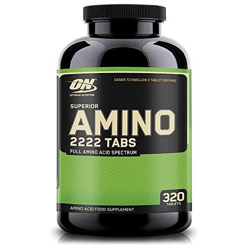 Optimum Nutrition Amino 2222- essentielle Aminosäuren (mit Verzweigtkettige Aminosäuren, Tabletten von ON) Unflavoured, 160 Portionen, 320 Kapseln