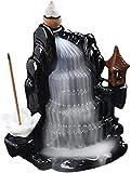Qohg Ceramic Backflow Supporto di incenso Cascata Cascata Bruciatore di incenso Fornello in ceramica Handmade Porcellana Bruciatore di incenso Burner Incenso Stick Supporto Aromaterapia Ornamenti