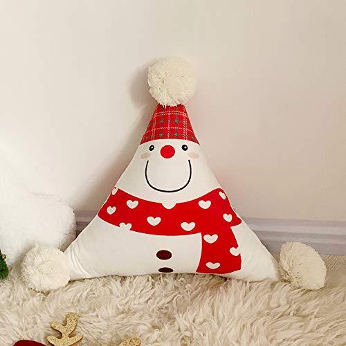 LOVE-CUSHION Kerstmis sofakussen Cartoon Anime kristal fluwelen driehoek zitkussen met wollen bolletjes, 8 kleuren