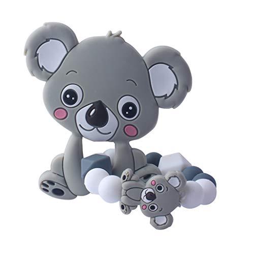 Yanhonin Jouet De Bébé Perles De Silicone, Koala Anneau Dentition...