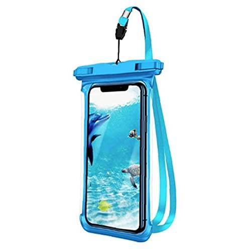 YepYes Funda Impermeable Teléfono Flotable Bolso Secar Secundar Bolsa Secar con Azul Lanyard
