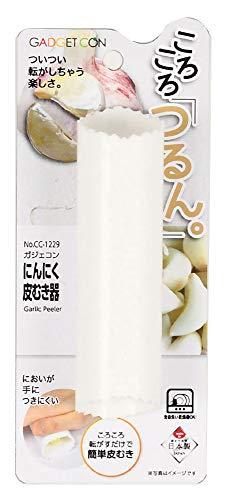 パール金属(PEARL METAL) 皮むき器(ピーラー) ホワイト 外径3.5×全長13.5cm にんにく ガジェコン CC-1229