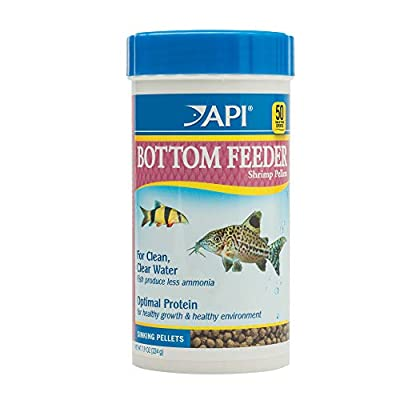 API Bottom Feeder Shrimp Pellets Fish Food Container, 232 g