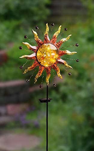 """Dekoleidenschaft Solar Stecker """"Sonne"""" Gartendeko Gartenbeleuchtung"""