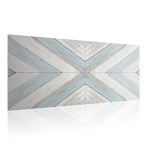 Cabecero para Cama de 90 cm, Imitación Madera, PVC Estampado, 95 x 60 x 0.5 cm, CAB-002