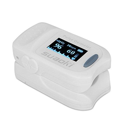 Suaoki Saturimetro Dito Pulsossimetro con schermo OLED e Batterie...